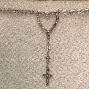 Beautiful 14kt white gold cross necklace